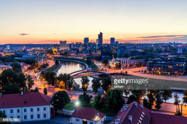 night vilnius, lithuania - lithuania stock pictures, royalty-free photos & images