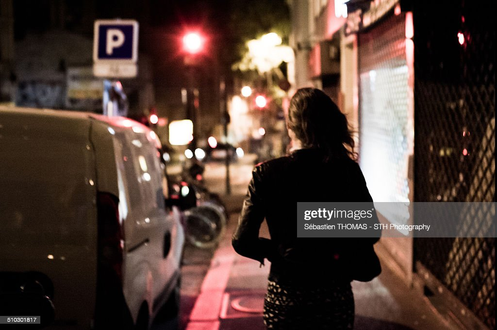 Night walker : Stock Photo