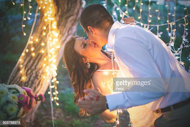 night with beautiful lights lightning the scene of love - community engagement stock pictures, royalty-free photos & images
