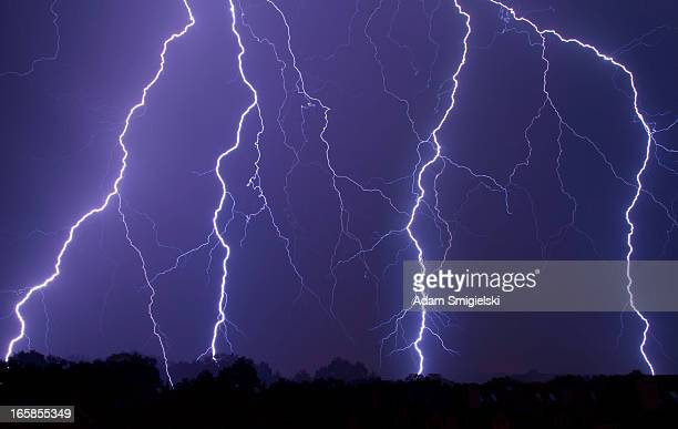 night with spectacular lightning / thunderstorm
