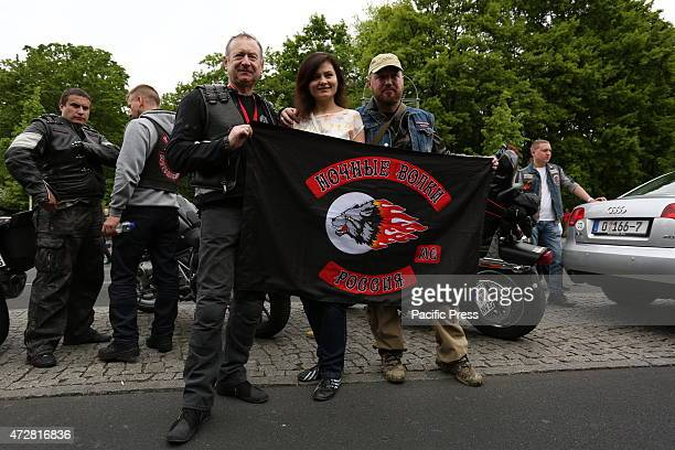DES 17 JUNI BERLIN GERMANY 'Night Wolves' the Russian bikers roll in Berlin for the 70th anniversary of the end of WWII
