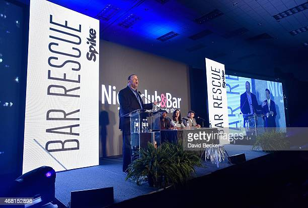 Nightclub Bar Media Group President and host and CoExecutive Producer of the Spike television show 'Bar Rescue' Jon Taffer TV personalities Phil...