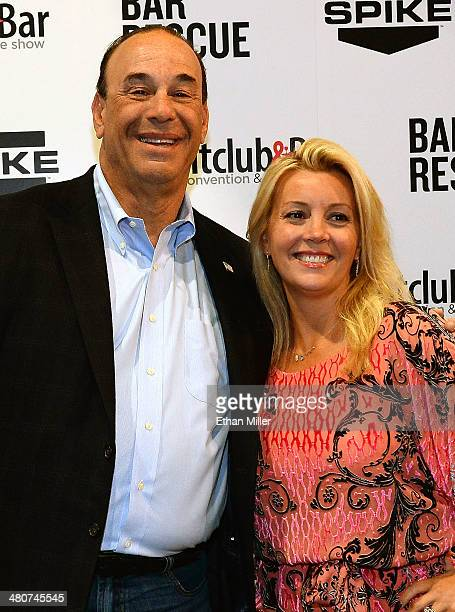 Nightclub Bar Media Group President and host and CoExecutive Producer of the Spike television show 'Bar Rescue' Jon Taffer and his wife Nicole Taffer...