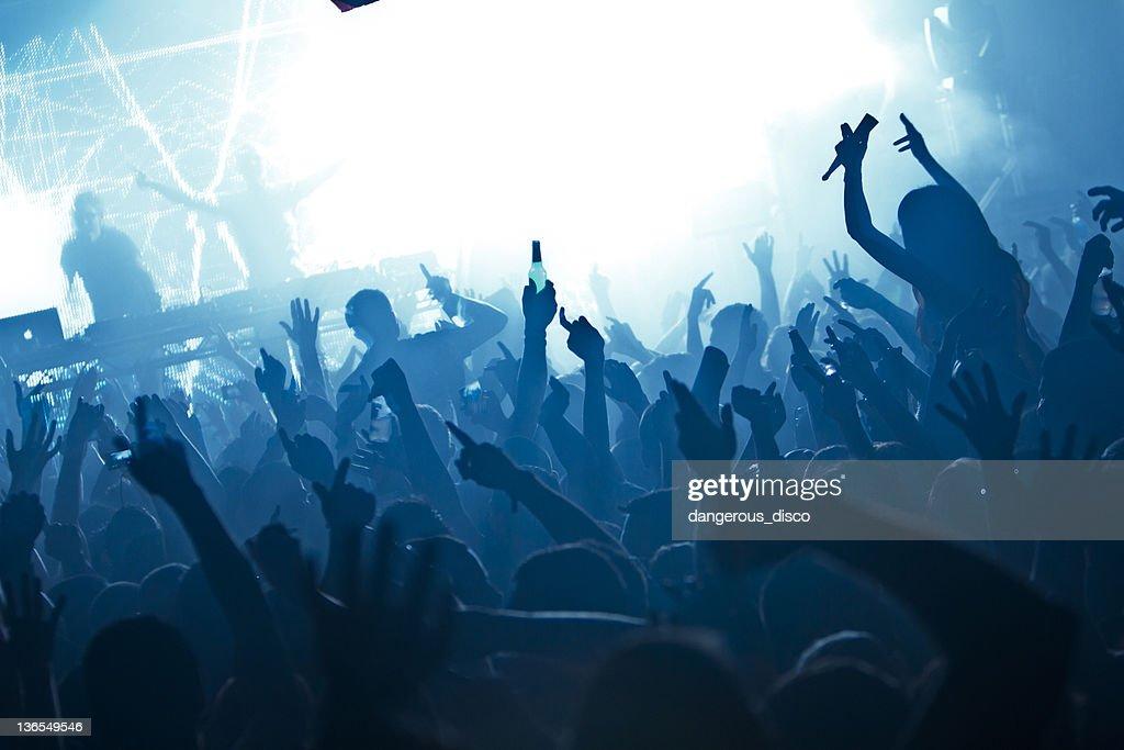 Nightclub crowd : Stock Photo