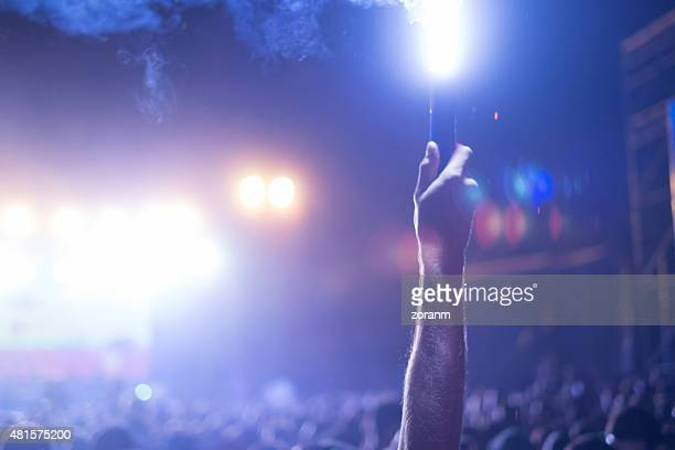 nightclub crowd - flare stack stock photos and pictures