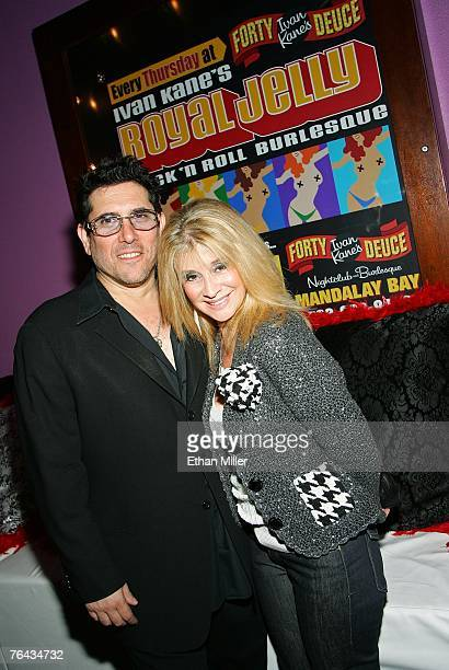 Nightclub entrepreneur Ivan Kane and his wife Champagne Suzy attend the grand opening of Royal Jelly a new rock 'n' roll burlesque show at Ivan...