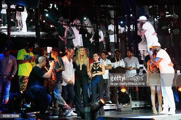 Nightclub entrepreneur Victor Drai television personalities Khloe Kardashian Kourtney Kardashian rapper Lil Fate Malika Haqq and rapper 50 Cent...