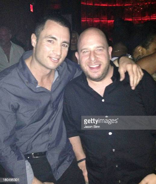 Nightclub owner Chris Paciello and Noah Tepperberg of Strategic Group pose circa August 2013