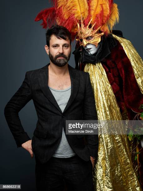 Nightclub owner Simon Hammerstein and one of his performers are photographed for Vanity Fair Magazine on November 29, 2016 at Art Basel in Miami,...