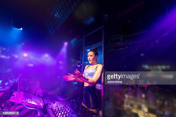 nightclub party DJ woman
