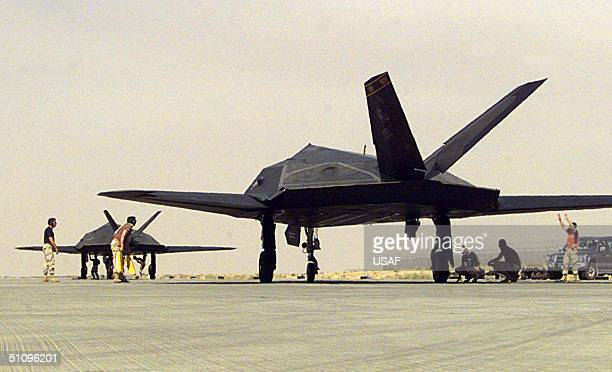 Nighthawk Fighters Assigned To The 8Th Fighter Squadron 49Th Fighter Wing Holloman Air Force Base NM Receive One Last Check Before Departing Ahmed Al...