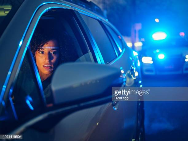 nightime police traffic stop - drinking and driving stock pictures, royalty-free photos & images
