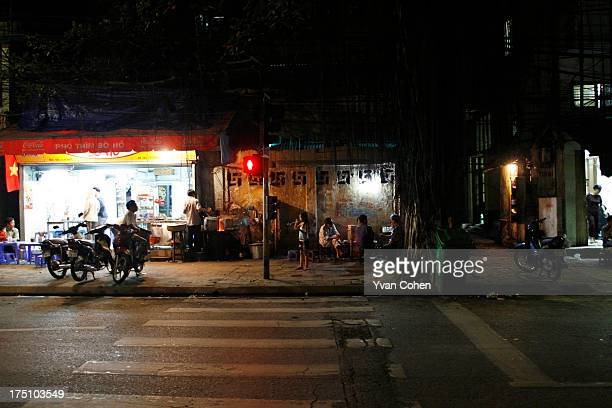 A nightime streetscene in Hanoi Hanoi is Vietnam's administrative capital and the seat of the nation's ruling communist party The once capital of...