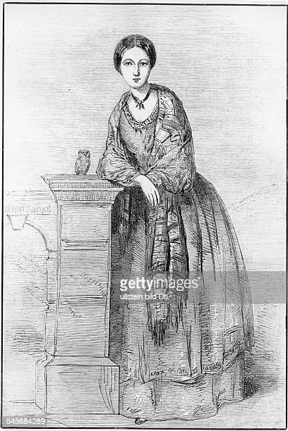 Nightingale Florence Nurse Writer UK Portrait with her owl 'Athena' Drawing made by her sister Parthenope probably about 1850