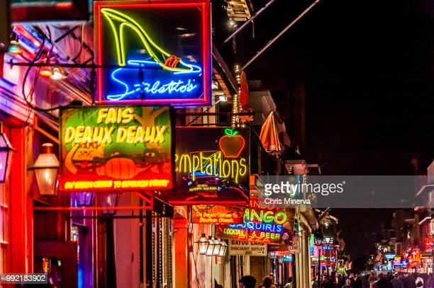 nightlife destinations in new orleans - new orleans mardi gras stock photos and pictures