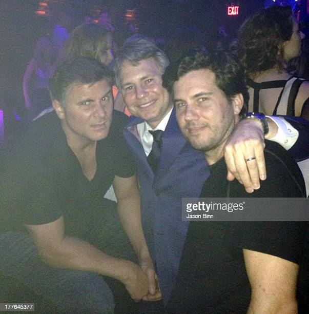 Nightlife entrepreneur and real estate developer Andrew Sasson DuJour Media Founder Jason Binn and restaurateur Scott Sartiano pose circa July 2013...