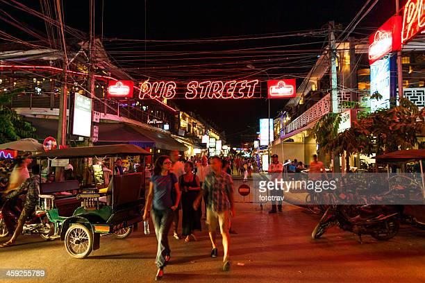 Nightlife in Siem Reap, Angkor, Cambodia
