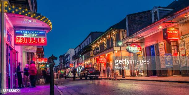 Nightlife in the French Quarter of New Orleans, Louisiana
