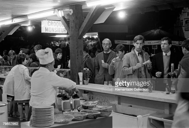Nightlife in the 'Village' of Le Mans during the 24 Hours of Le Mans Le Mans September 2829 1968