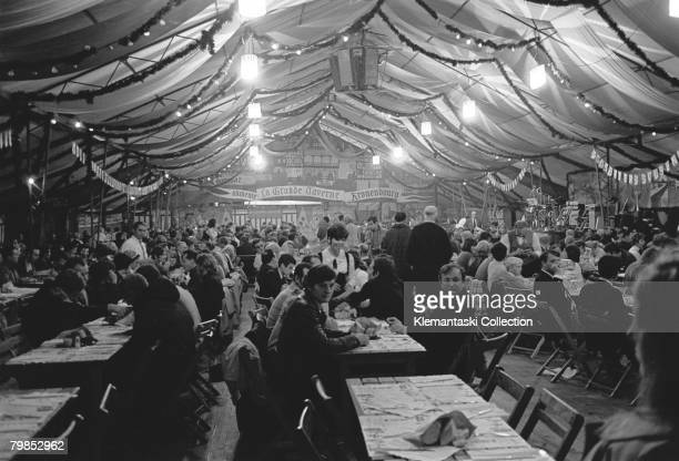 Nightlife in the 'Village' of Le Mans during the 24 Hours of Le Mans race Le Mans September 2829 1968