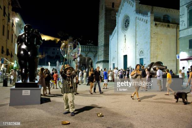 nightlife in tuscany - fernando botero stock photos and pictures