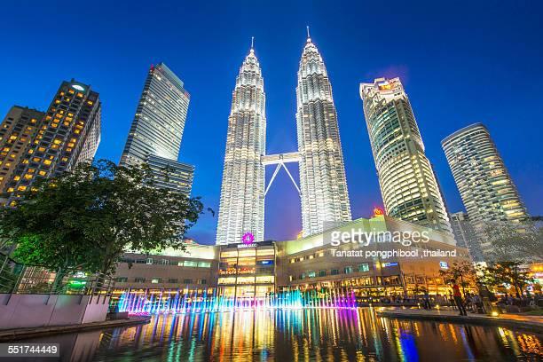 Nightlife of Petronas Twin Towers, Malaysia