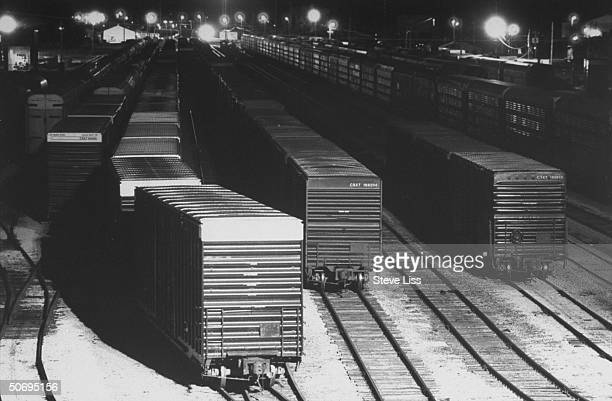Nightlit CSX trainyard last stop for 3 white Highland Township trainhopping teens who ended up in rough area of Flint victims of assault leaving...