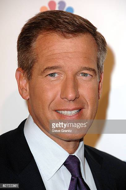 Nightly News anchor Brian Williams arrives at Stand Up For Cancer at The Kodak Theatre on September 5 2008 in Hollywood California