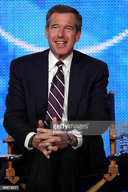 Nightly News anchor Brian Williams speaks onstage at the NBC Universal 'NBC News' QA portion of the 2010 Winter TCA Tour day 2 at the Langham Hotel...