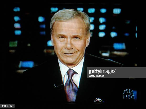 Nightly News' Tom Brokaw signs off for the last time in this image taken from a television screen December 1 2004 in New York City Brokaw retired...