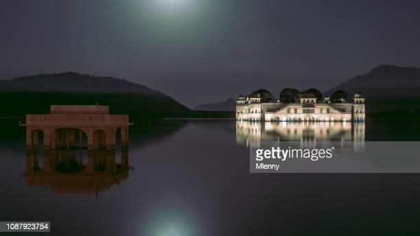 Nightpanorama Jal Mahal Water Palace Jaipur Rajasthan India