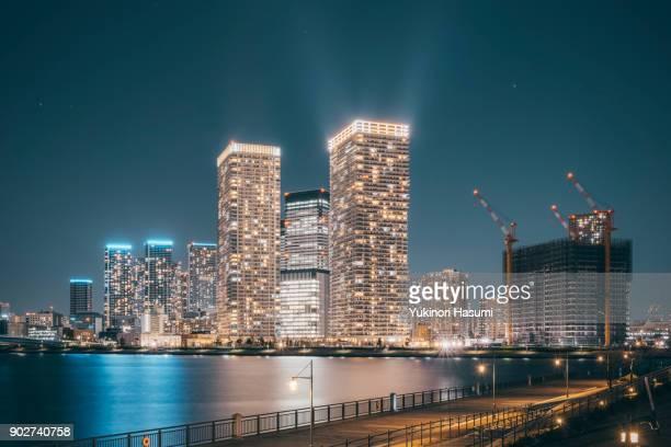 Nightscape of Harumi, Tokyo