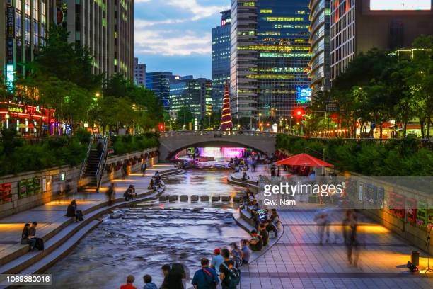nightscape of seoul - seoul stock pictures, royalty-free photos & images