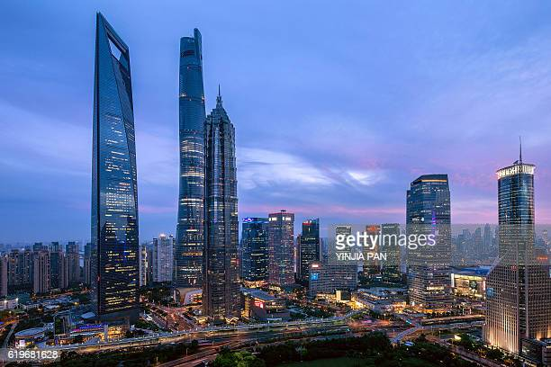 Nightscape of Shanghai City