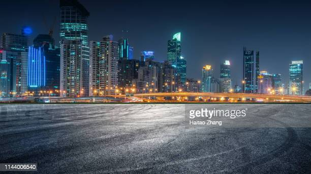 nightscape of shanghai city scenic road - city night stock pictures, royalty-free photos & images