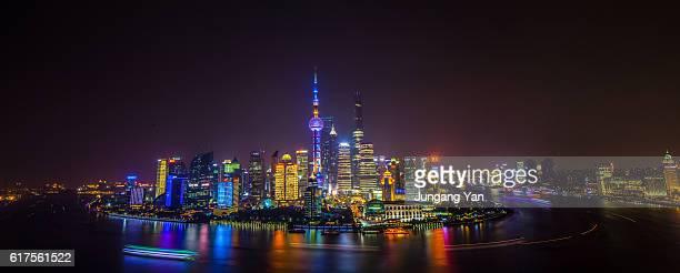 Nightscape of Shanghai skyline