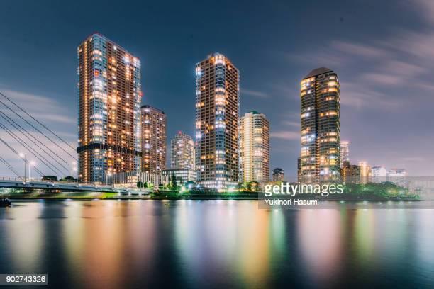 Nightscape of Tsukishima, Tokyo