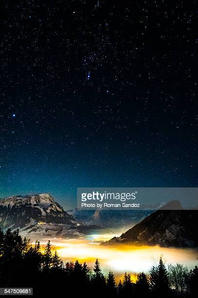 Nightsky over the Alps