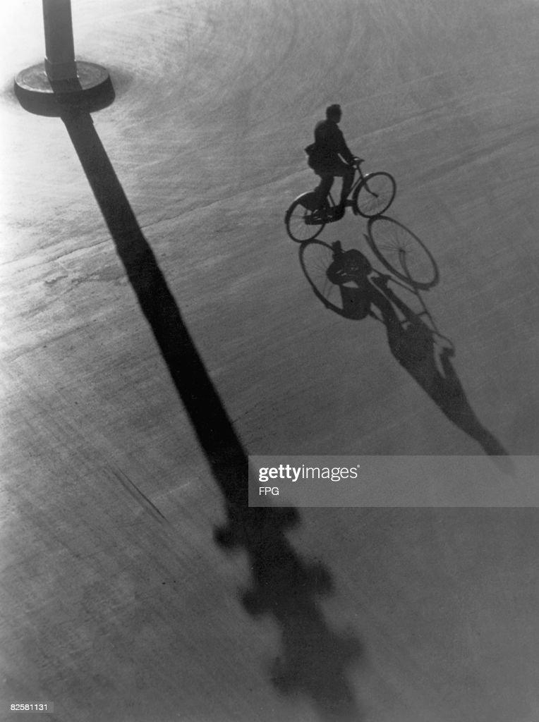 Nighttime Bike Ride : Stock Photo