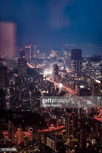 nighttime cityscape - merten snijders stock pictures, royalty-free photos & images