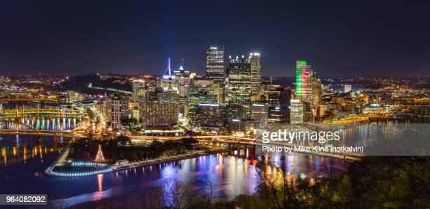 Nighttime in Pittsburgh - Panorama