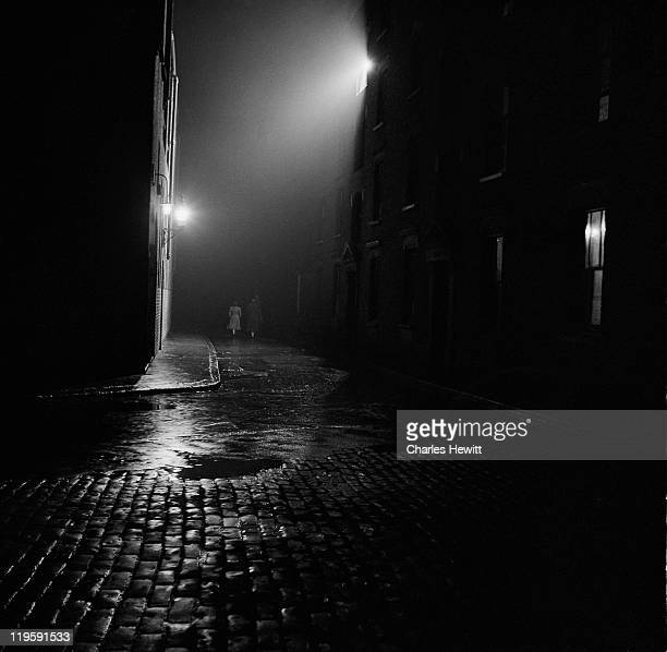 Nighttime on Christmas Street formerly Noel Street in the south London borough of Southwark December 1946 Picture Post 4277 The Story Of Christmas...