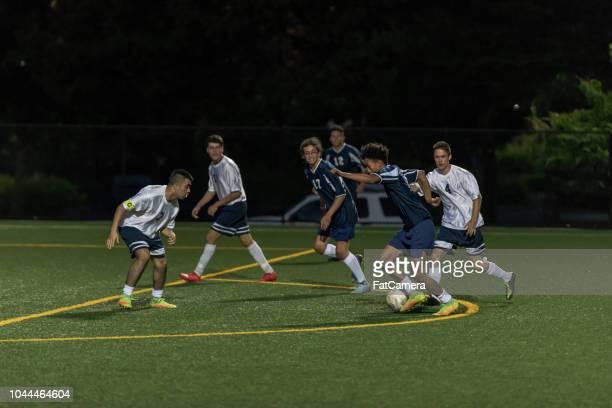Nighttime soccer game