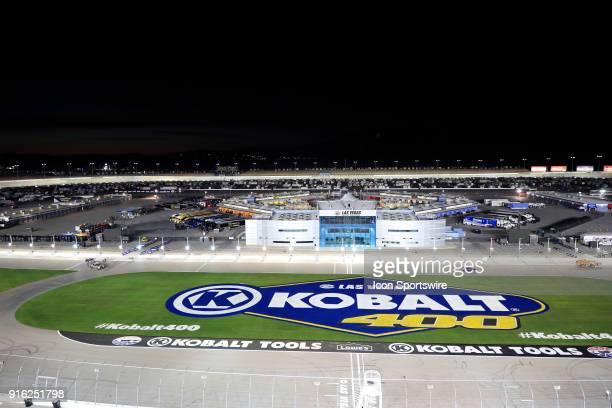 Nighttime view of Las Vegas Motor Speedway in Las Vegas NV