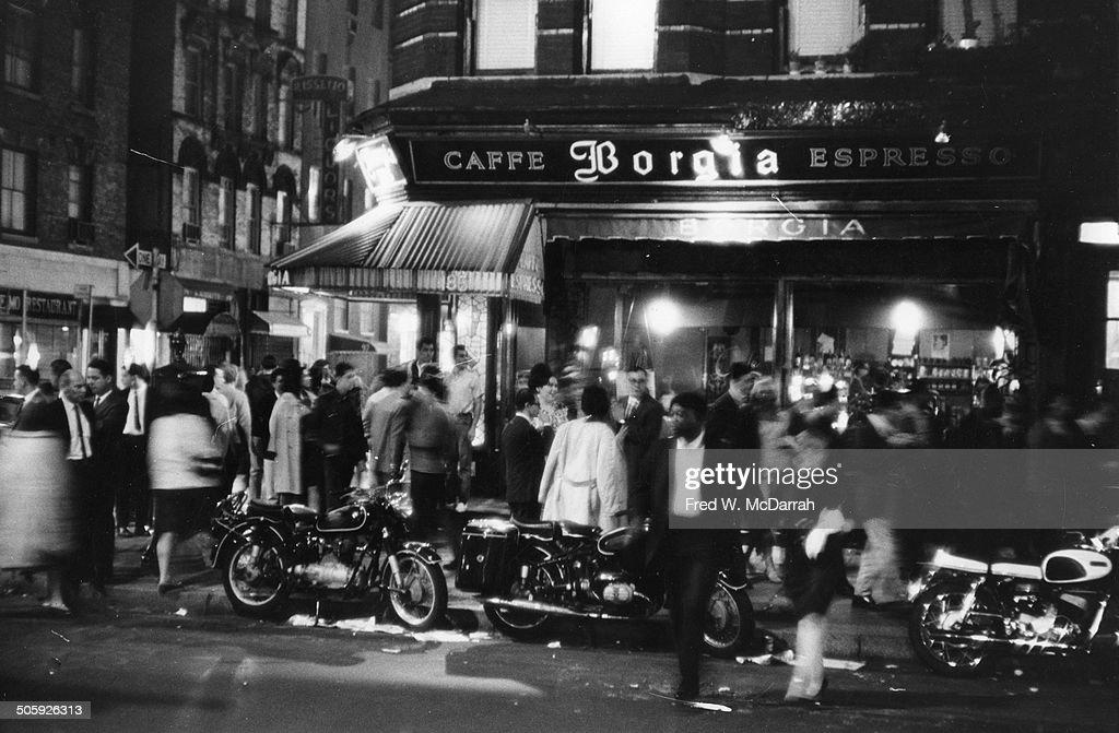 Outside Caffe Borgia : News Photo