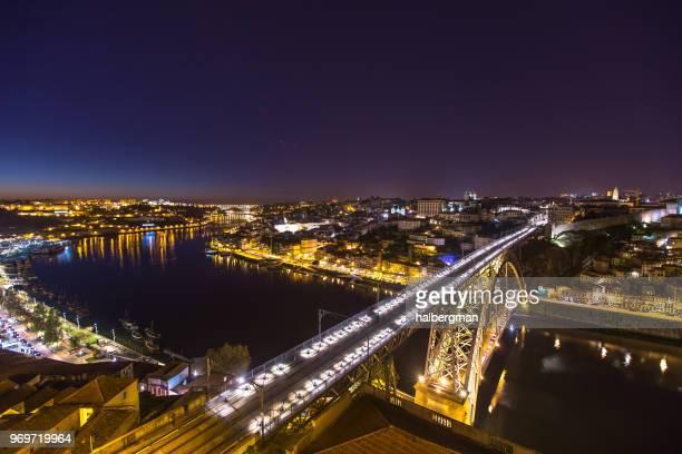 Nighttime View of Porto, Portugal from Vila Nova de Gaia