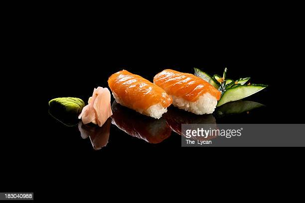 nigiri sushi style - japanese food stock pictures, royalty-free photos & images