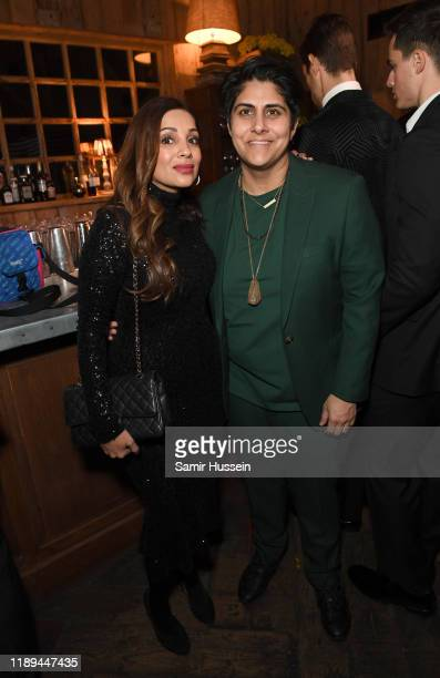 Nigma Talib and Moj Mahdara attend the gala dinner in honour of Edward Enninful winner of the Global VOICES Award 2019 during #BoFVOICES on November...
