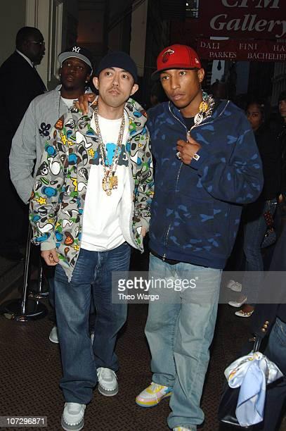 Nigo and Pharrell Williams during Louis Vuitton and Interview Magazine Host Party for Nigo Interview Magazine Cover at Louis Vuitton Soho in New York...