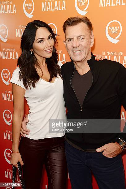 Nigora Whitehorn and Duncan Bannatyne attend the He Named Me Malala Special Screening at Ham Yard Hotel on October 22 2015 in London England